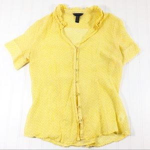 Banana Republic Women's Blouse silk cotton yellow